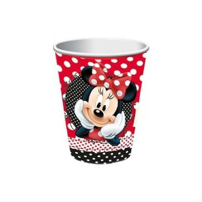 Minnie Vermelha Copo Papel 330 Ml  C/8un Regina