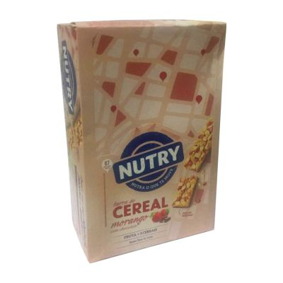 Barra de Cereal Morango c/Chocolate Nutry 24x22g