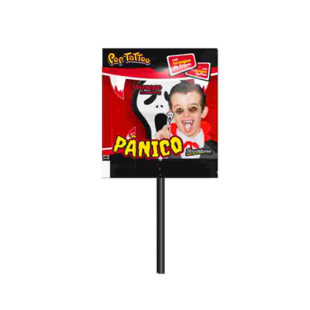 Pirulitos Pop Tattoo Panico 400g Boavistense