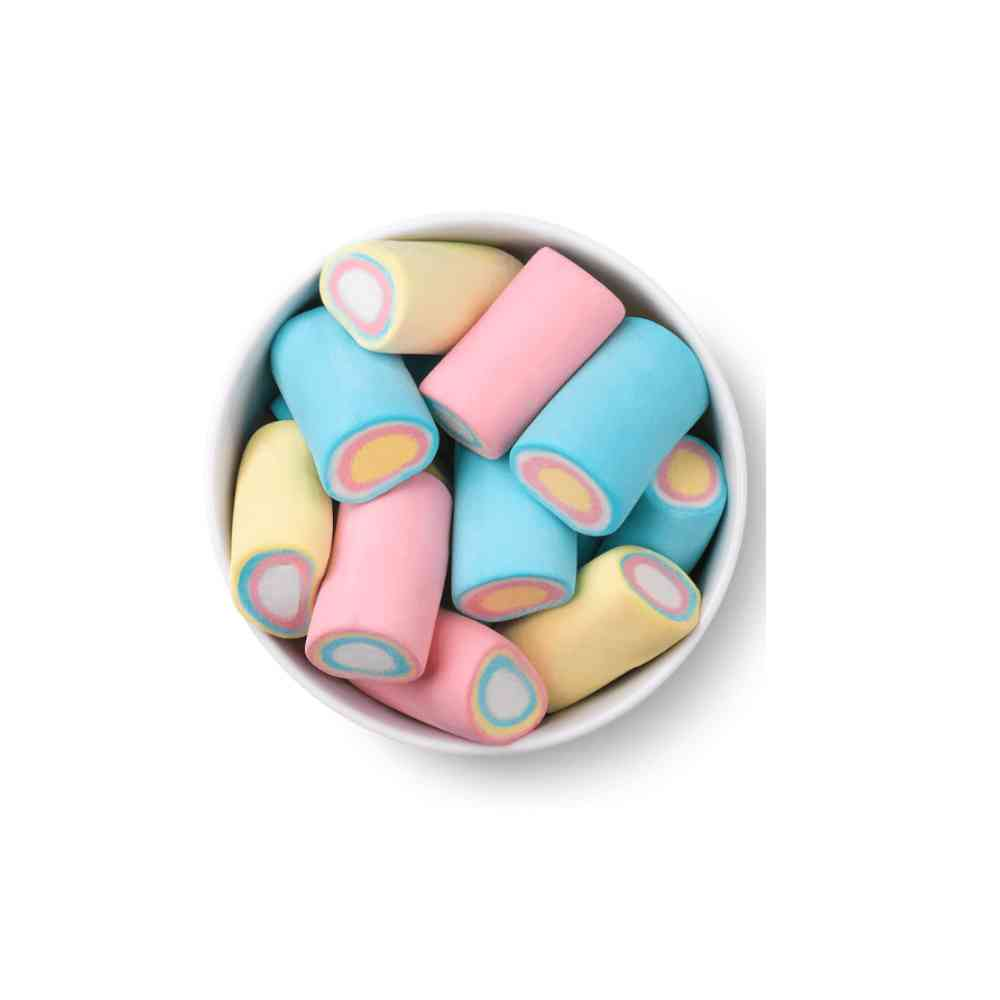Marshmallow Tubos Colors 250g Docile