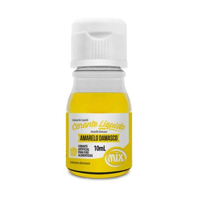 Corante Liq Amarelo Damasco 10ml Mix