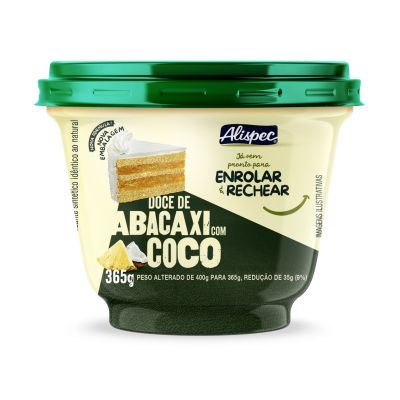 Doce Abacaxi C/ Coco 365g Alispec