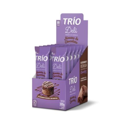 BARRA DE CEREAL MOUSSE DE CHOCOLATE 300G 12UN TRIO