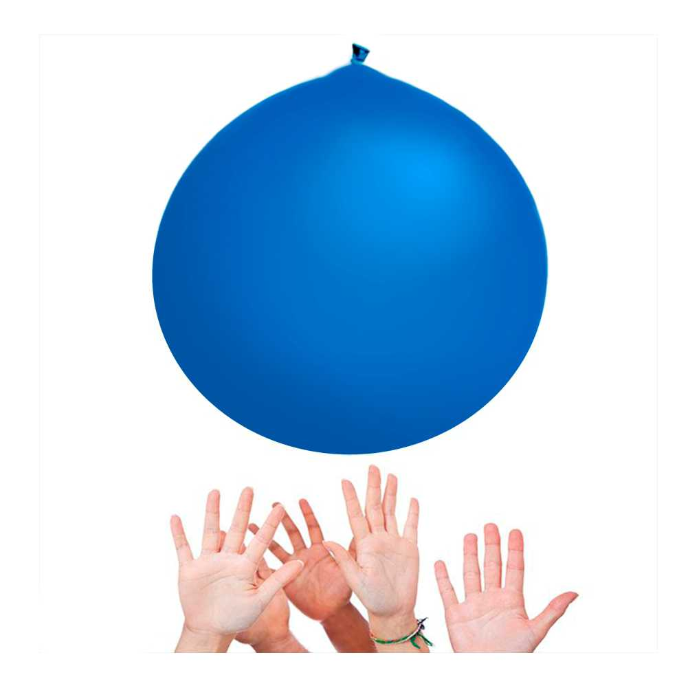 Balão Big 350 Liso Azul Happy Day
