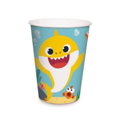COPO DE PAPEL 240ML BABY SHARK C/8  CROMUS